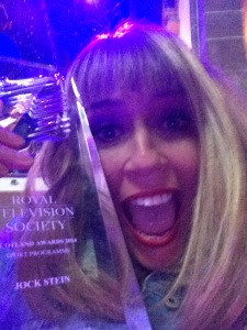 Me and my RTS winners trophy!
