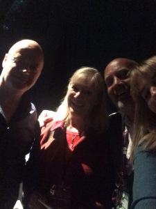 Craig Robertson, Alex Gray, Michael Malone & me backstage!